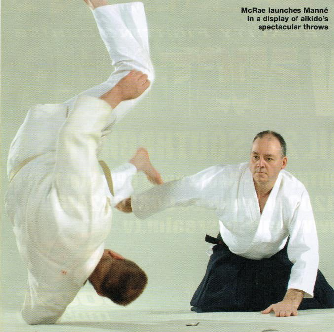 McRae launches Manne in a display of aikido's spectacular throws
