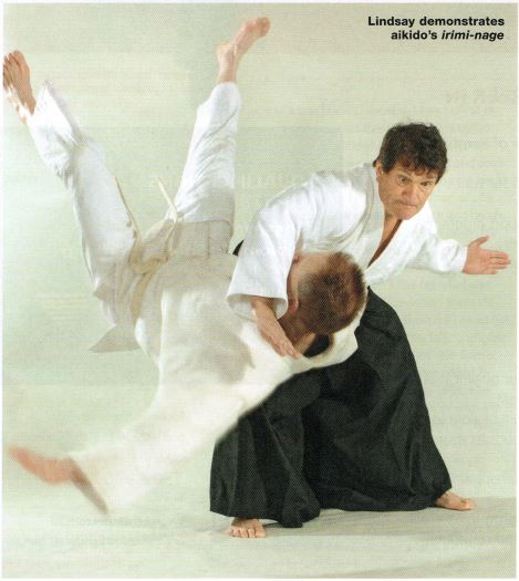 Lindsay demonstrates aikido's irimi-nage